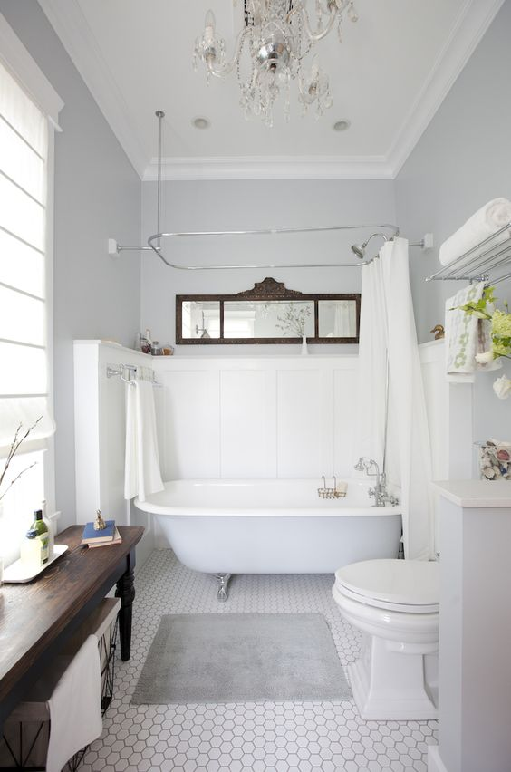 Antique mirror over tub bathroom bathroom pinterest for Bathroom ideas vancouver