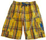 Men's U.S. Polo Assn. Swimming Trunks Bathing Suit Yellow Plaid Size Medium |