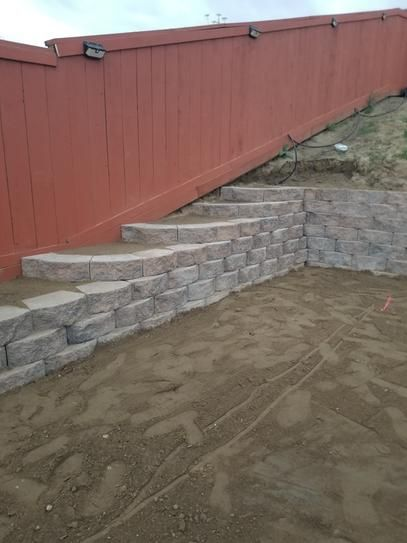 Pavestone Rockwall Large 6 In X 17 5 In X 7 In Pecan Concrete Retaining Wall Block 48 In 2020 Concrete Retaining Walls Sloped Backyard Landscaping Sloped Backyard