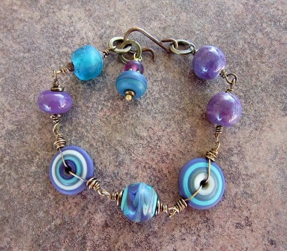 Etsy listing at https://www.etsy.com/listing/475399977/colorful-rustic-turquoise-blue-purple