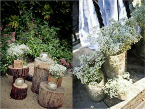 Decoracion para bodas con paniculatas wedding ideas for Ideas decoracion rustica