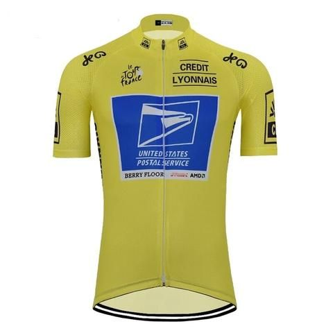 Tour De France Vintage Yellow Jersey Us Postal Cycling Jersey