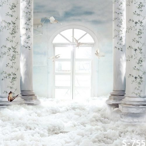 White Heaven Palace Photo Studio Backgrounds 5 X 8 Ft Vinyl Print For Chilren S Portrait Photography Backdrop S 755 Studio Backdrops Background For Photography Photography Backdrops