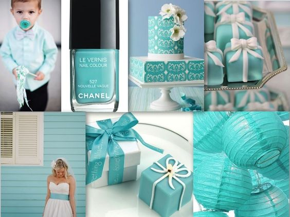 Inspiration Board #10 Turquoise and Tiffany Blue Wedding Theme