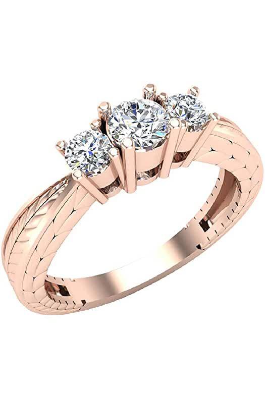 Amazon Com Round Wedding Rings Engagement Wedding Rings Round Engagement Rings Wedding Rings