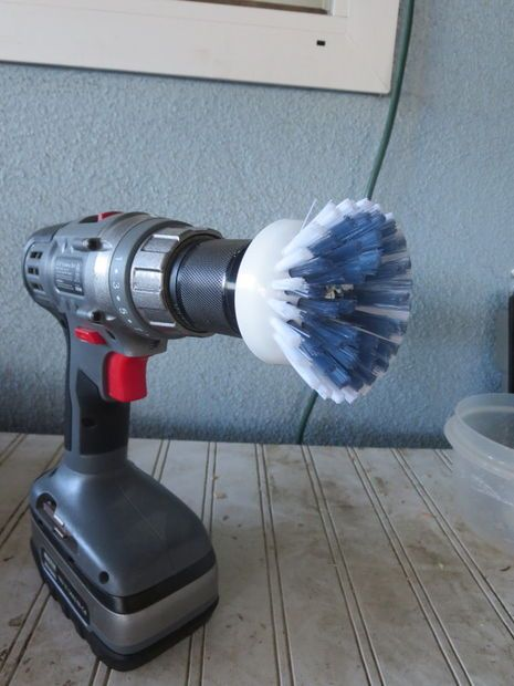 Scrubbing the shower is a breeze with the Power Brush Drill Attachment.