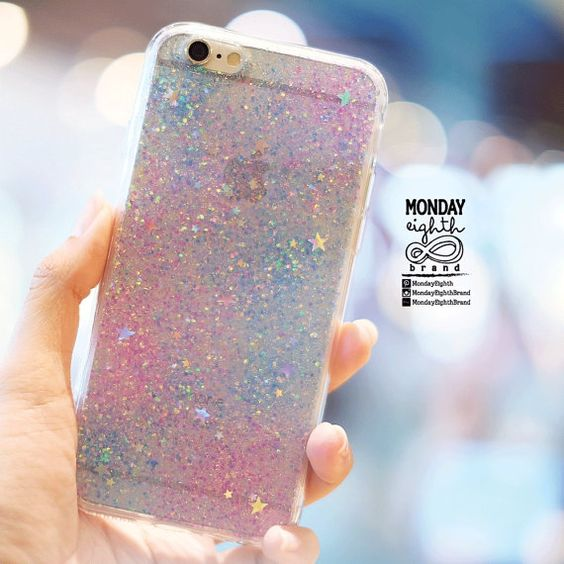 Mermaid Phone case Glitter case for iPhone by MondayEighthBrand