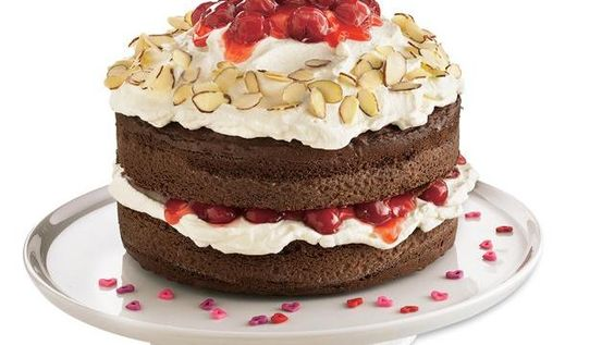 Black forest cake..I made this and it was delish...the homemade whipped cream was what made the cake!