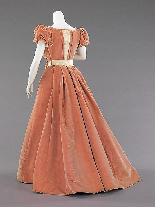 Image 2 of 2: Evening dress Rouff (French, 1844–1914) Date: ca. 1897 Culture: French Medium: silk Dimensions: Length at CF (a): 13 in. (33 cm) Length at CB (b): 45 in. (114.3 cm)