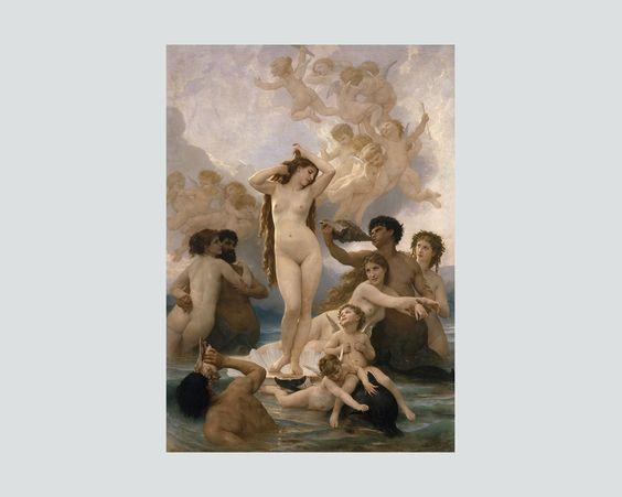 Nacimiento de Venus William Bouguereau Nacimiento de Venus, 1879 Óleo sobre lienzo Musée d'Orsay, París © RMN-Grand Palais (musée d'Orsay) / Hervé Lewandowski