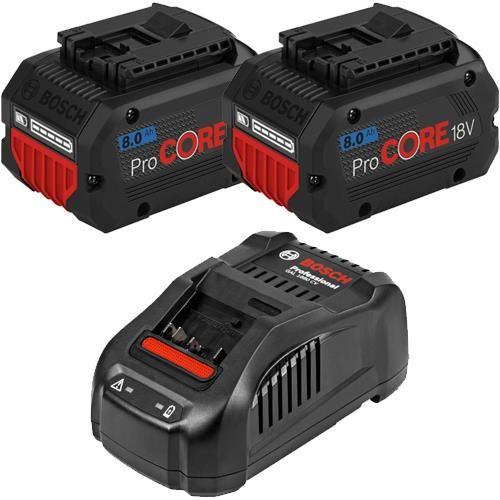 Bosch 18V Battery Kit: 2x 8Ah ProCore + GAL1880CV Charger