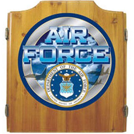 US Air Force Dart Cabinet with Darts and Board, White