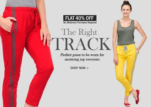 FLAT 40% OFF on All Orders of Women Trackpants at Festive Season