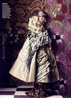 Paul Poiret's amazing influence:  Fashioning the Century  Vogue US, May 2007  Photographer: Steven Meisel  Model: Natalia Vodianova  Christian Dior, Spring 2007 Couture