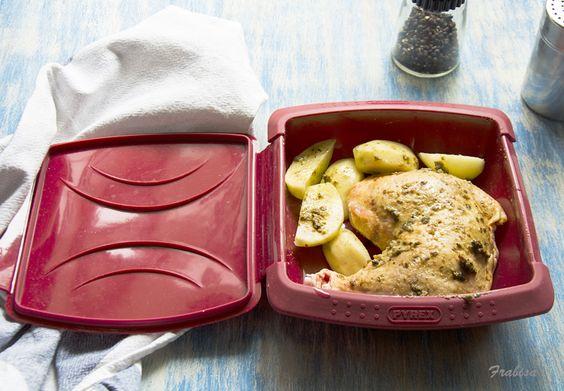 La cocina de frabisa c mo hacer pollo y patatas en - Cocina al vapor en microondas ...