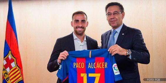 Alcácer, ilusionado por jugar con Suárez, Messi y Neymar