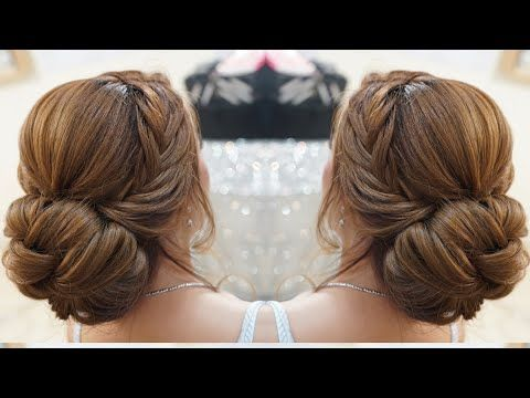 Quick And Easy Updo Hairstyles With Braid Elegnat Updo Hairstyles Youtube Easy Updo Hairstyles Easy Updos For Medium Hair Hair Styles