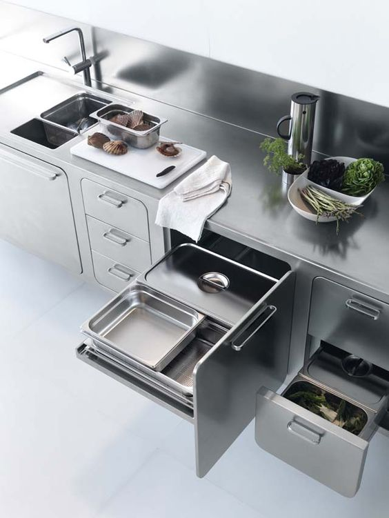 Groovy Modern Stainless Steel Kitchen Everything Exposed | Café Verde Menta  | Pinterest | Stainless Steel Kitchen, Stainless Steel And Steel