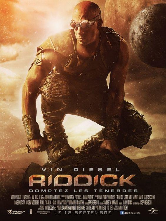 Affiche du film Riddick avec : Vin Diesel, Karl Urban, Katee Sackhoff, Jordi Mollà, Nolan Gerard Funk, Keri Hilson, Dave Batista ..