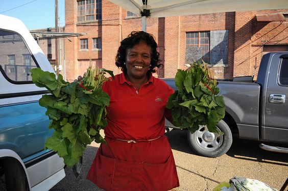 Hallie Streater at the Greenwood Farmers' Market by Southern Foodways Alliance, via Flickr
