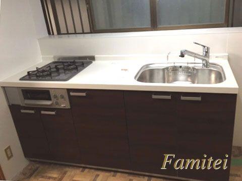 施工例 システムキッチン Lixilリクシル シエラ I 型 W180 現場番号 00023969 システムキッチン ミニキッチン 新築 キッチン