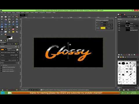 Gimp Create Super Simple Glossy Text By Pgc Text Effects Gimp
