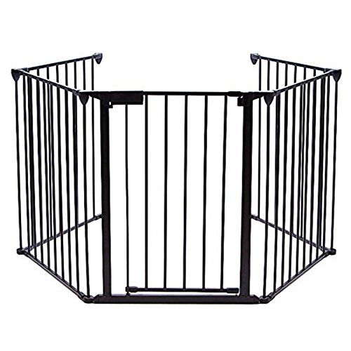 Teekland Baby Gate Fireplace Safety Fence With Doors Pet Dog Gate