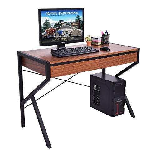Modern Computer Desk Design Wooden Top Laptop School Sturdy Desk