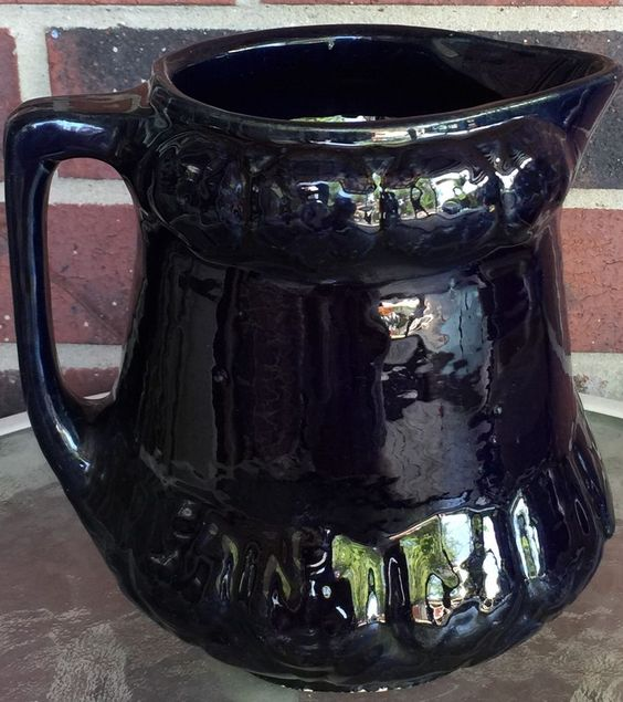 Antique Salt Glaze Cobalt Blue Stoneware Pottery Pitcher   eBay