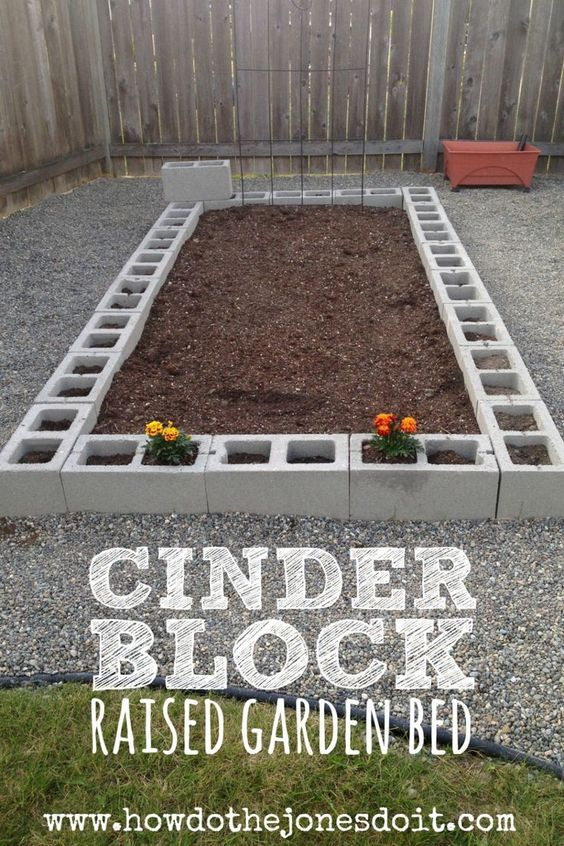 How to build a cinder block raised garden bed gardens - Painting cinder blocks for garden ...
