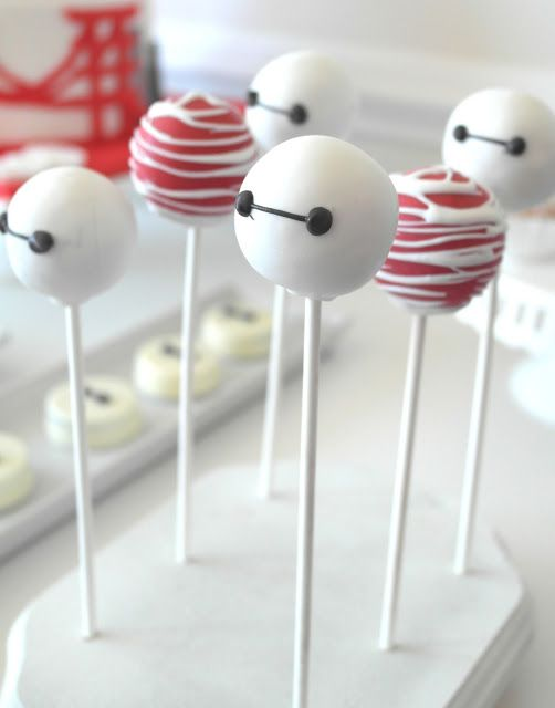 Big Hero 6 Birthday Party Baymax Cake Pops: Ella and Annie Magazine: