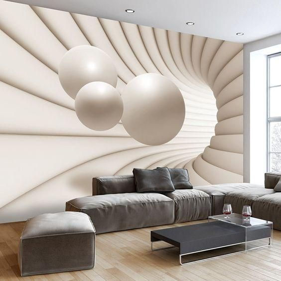 Outstanding Wall Art Ideas Inspiredoptical Illusions With Optical Illusion Wall Art Wallpaper Living Room Decor 3d Wallpaper Mural