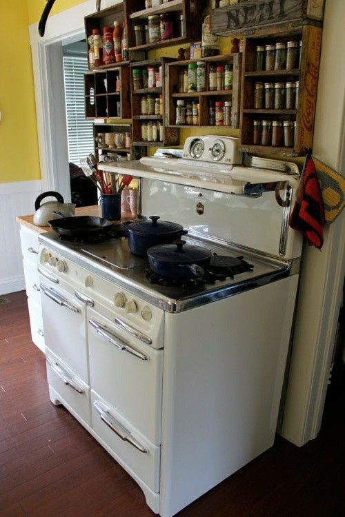 Spice Rack Over The Stove Small Kitchen Home Kitchens Kitchen