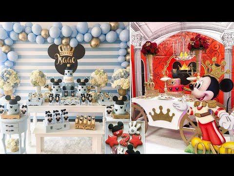 Mikey Mouse Parties Birthdays Of Girls Video2 حفلات عيدميلاد عشكل ميكي ماوس للاولاد الجزء2 Youtube Birthday Cake Cake Birthday