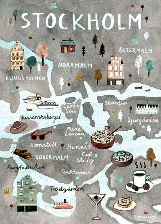 Stockholm Map by Livi Gosling. Discover restaurants, bars, shops, clubs & cultural hotspots that locals love in Stockholm: www.10thingstodo.in