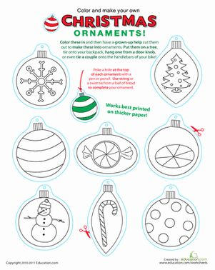 common worksheets free printable christmas worksheets for preschoolers printable christmas ornaments christmas makes - Free Printable Holiday Worksheets