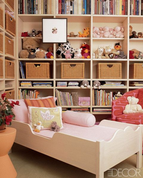 for a small room: floor to ceiling storage, diagonal bed