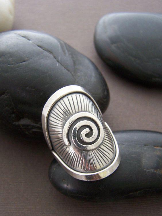 Immobilien Sterling 925er Silber Ring  von StoneStreetStudio