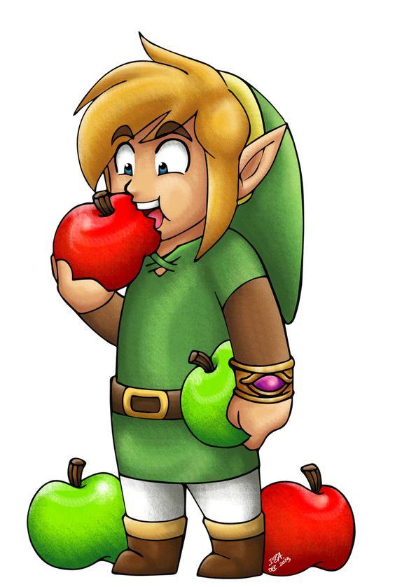 Link Eating Apples by IzIzIza.deviantart.com on @deviantART