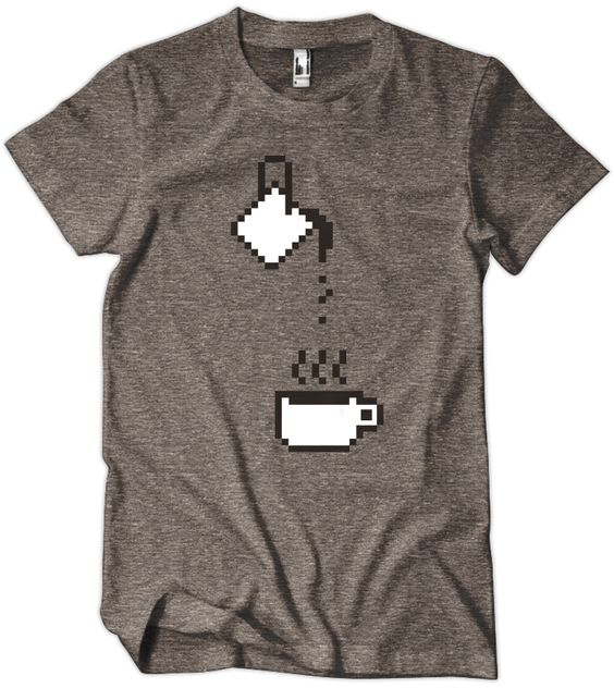 United Pixelworkers T-shirt. On top of that, it references coffee, which I've given up.
