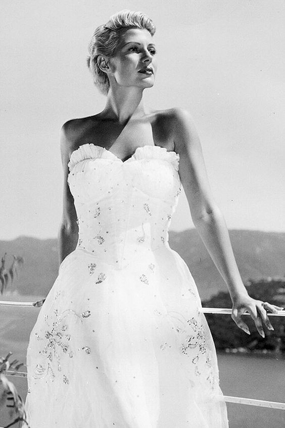 Rita Hayworth, The Lady from Shanghai, costume design by Jean Louis, 1947 (dir. Orson Welles).: