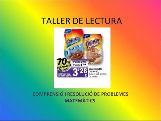 Taller de Lectura: Comprensió de problemes by Beatriu Palau via slideshare