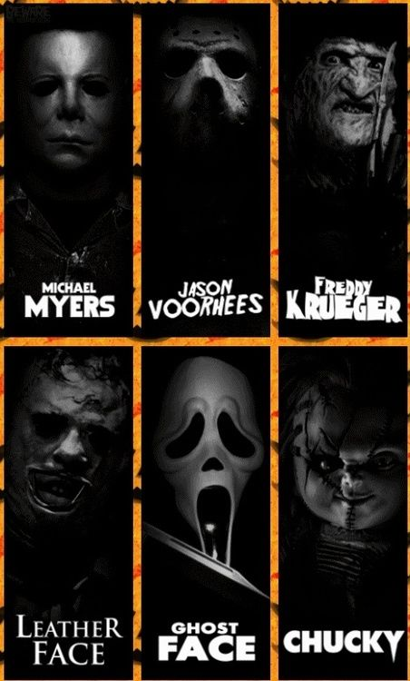 Horror Movie Killers horror jason voorhees freddy kruger michael myers ghostface chucky killers leather face