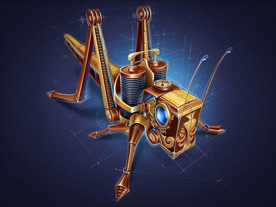 #Steampunk Tendencies | Steampunk Grasshopper