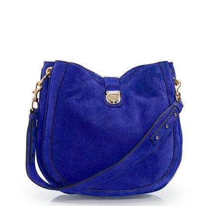 Telegram suede hobo: Women Bags, Royal Blue, Blue Suede, Bags Bags