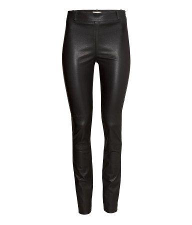 Leather Pants | Black | Ladies | H&M US