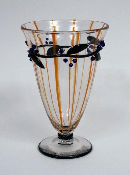 Vase by Daum Nancy, made in France, circa 1920