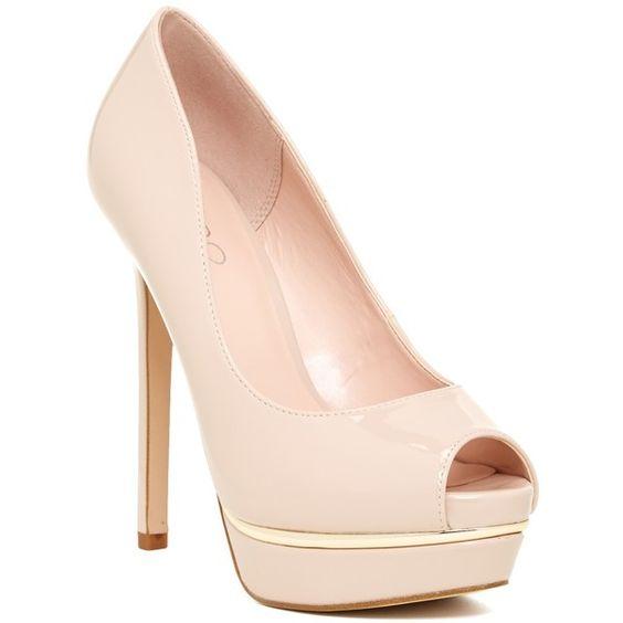 Aldo Abida Pump ($60) ❤ liked on Polyvore featuring shoes, pumps, bone, peep toe shoes, peep toe stilettos, aldo shoes, peep-toe pumps e heels stilettos
