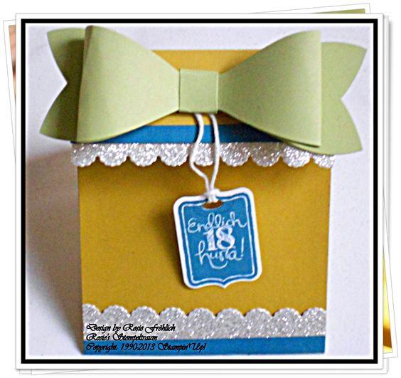 Geschenkkarte zum 18. Geburtstag http://rosiesstempeltraum.blogspot.de/