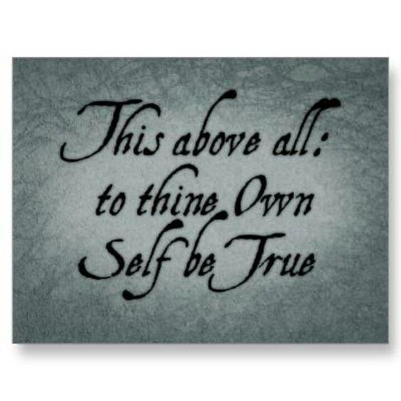 Being true to yourself hamlet essays